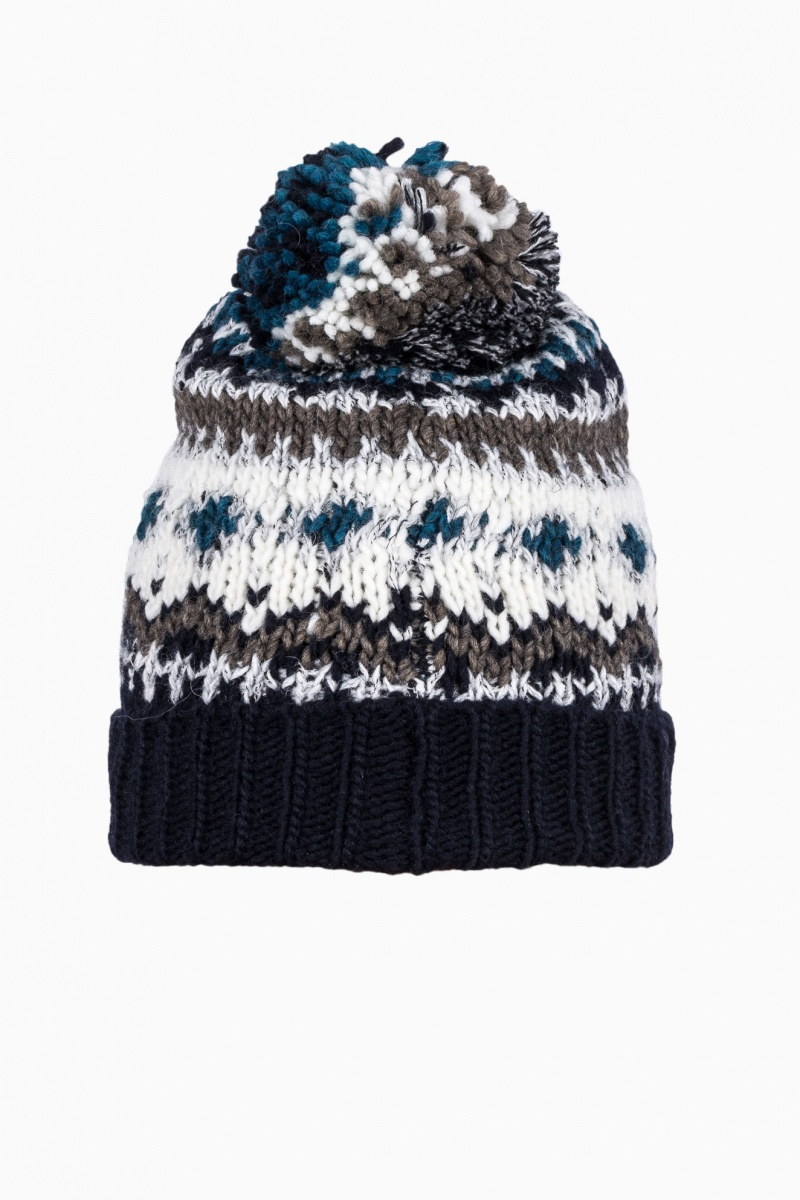WOOLRICH MAN HAT WITH POM POM