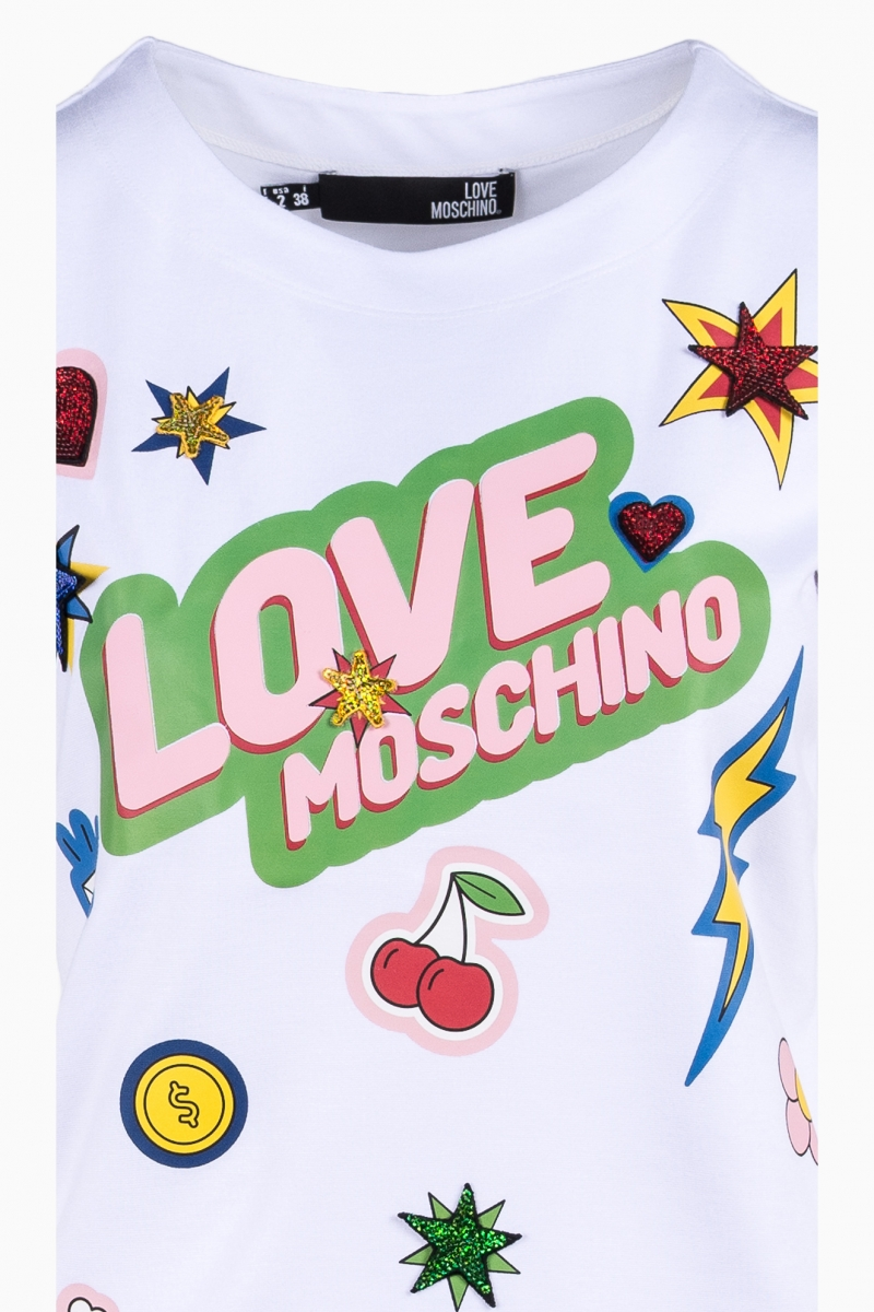 LOVE MOSCHINO WOMAN T-SHIRT