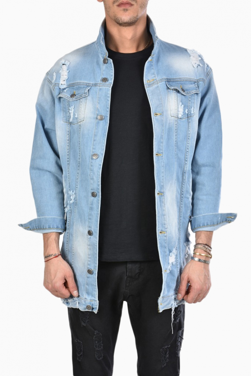 XAGON MAN DENIM MAN OVERSIZE JACKET