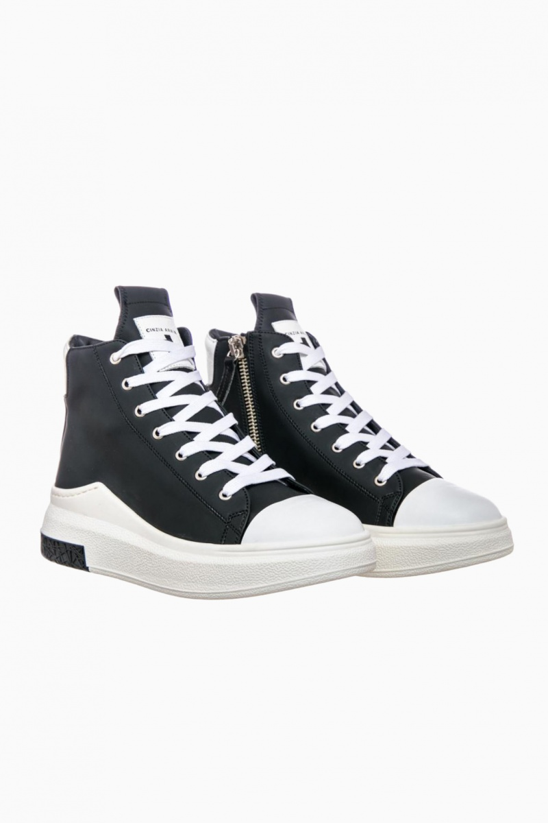 CINZIA ARAIA WOMAN HIGH-TOP SNEAKERS