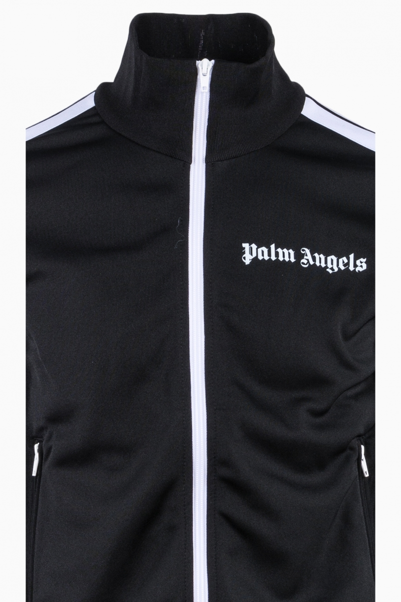 PALM ANGELS MAN BLACK TRACK JACKET