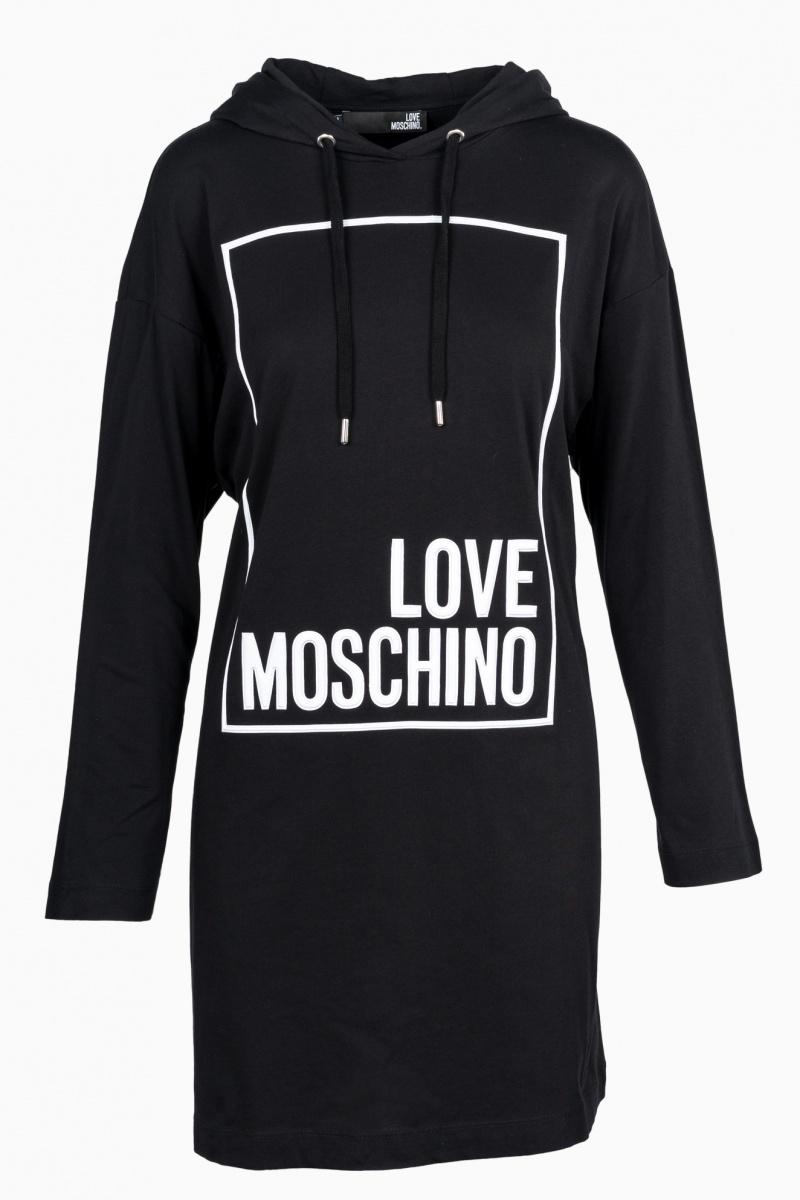 LOVE MOSCHINO WOMAN SWEATSHIRT DRESS