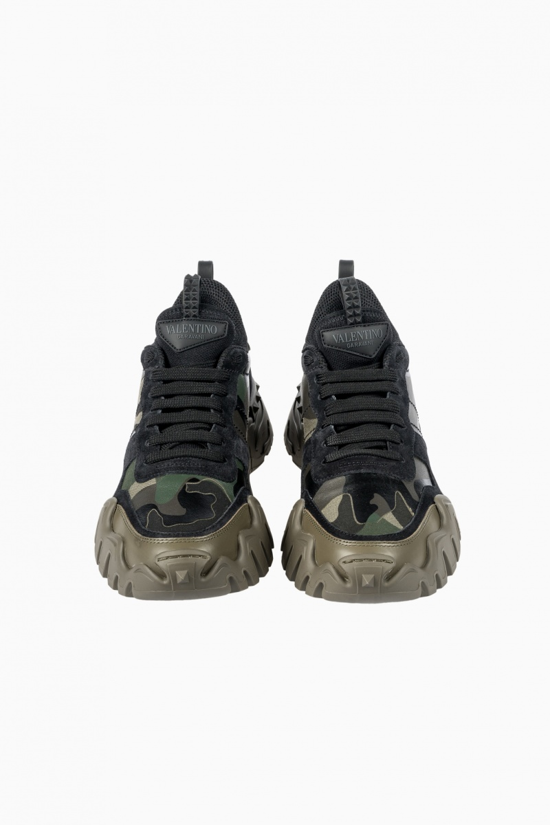 VALENTINO CAMOUFLAGE ROCKRUNNER PLUS MAN SNEAKERS