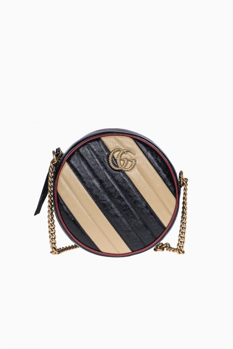 GUCCI MARMONT STRIPED CIRCLE BAG