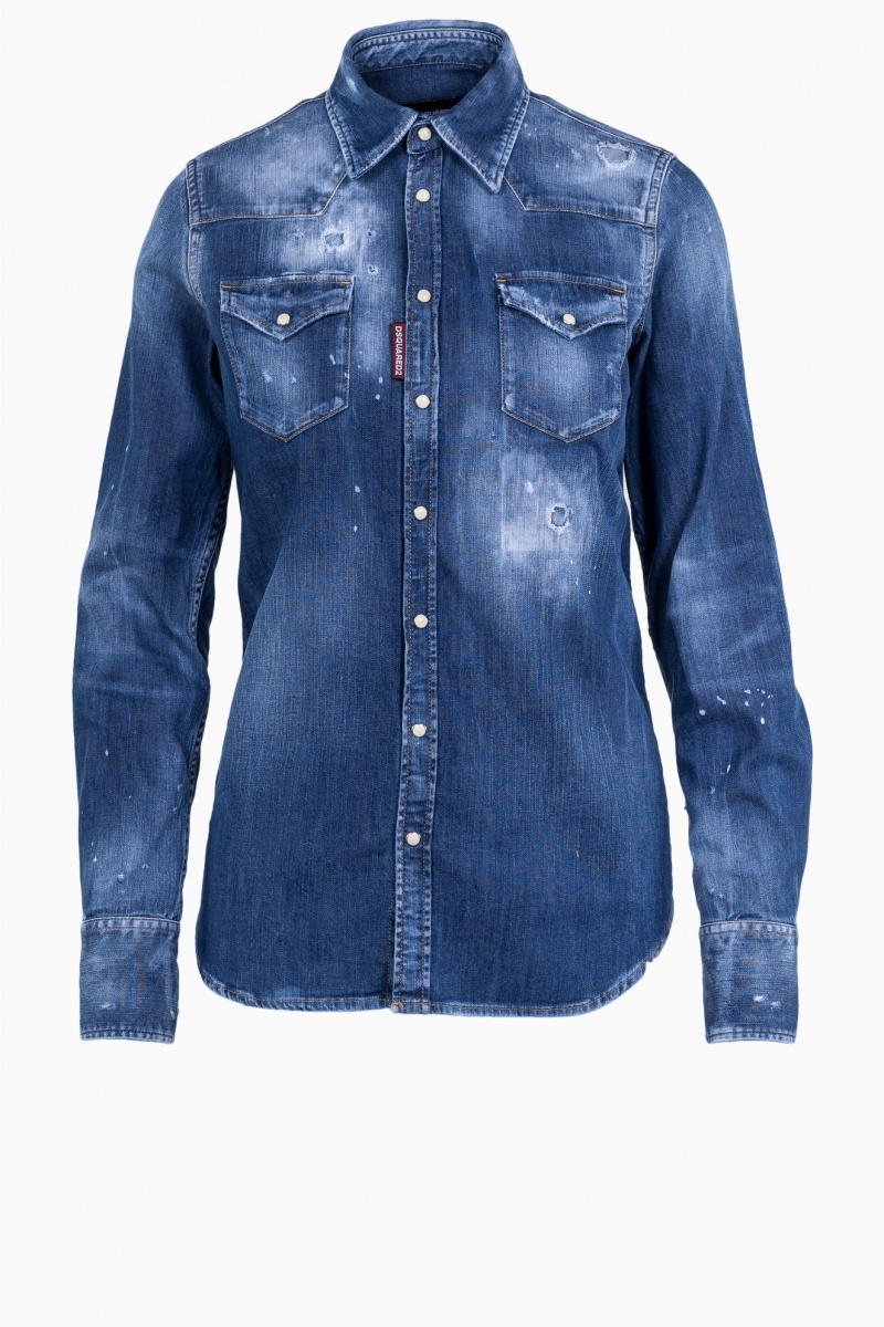 DSQUARED2 WOMAN JEANS SHIRT