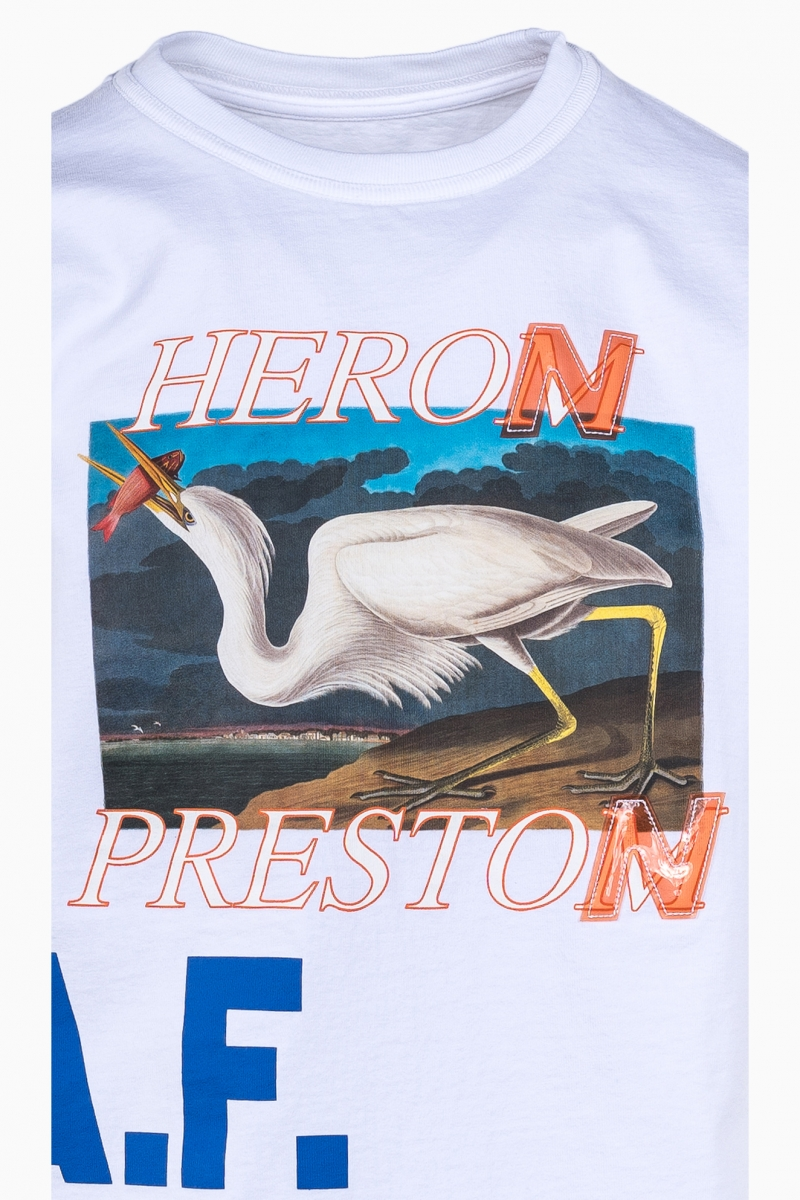 MAN T-SHIRT HERON PRESTON LOGO PRINT