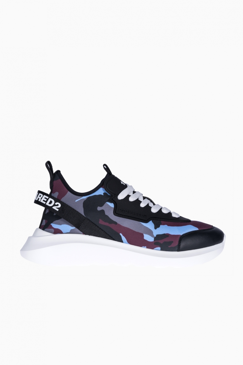 SNEAKERS BARBATI DSQUARED2 CAMOUFLAGE SPEEDSTER