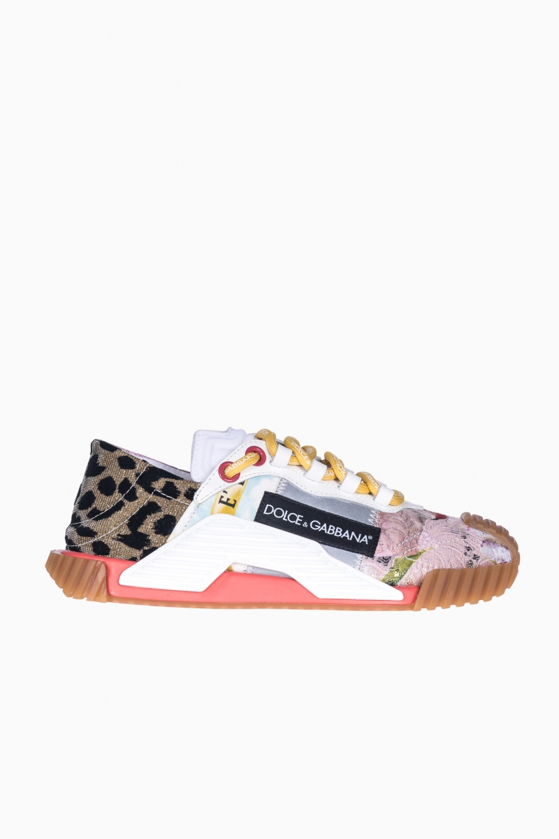 SNEAKERS DAMA DOLCE&GABBANA PATCHWORK FABRIC NS21 SLIP-ON